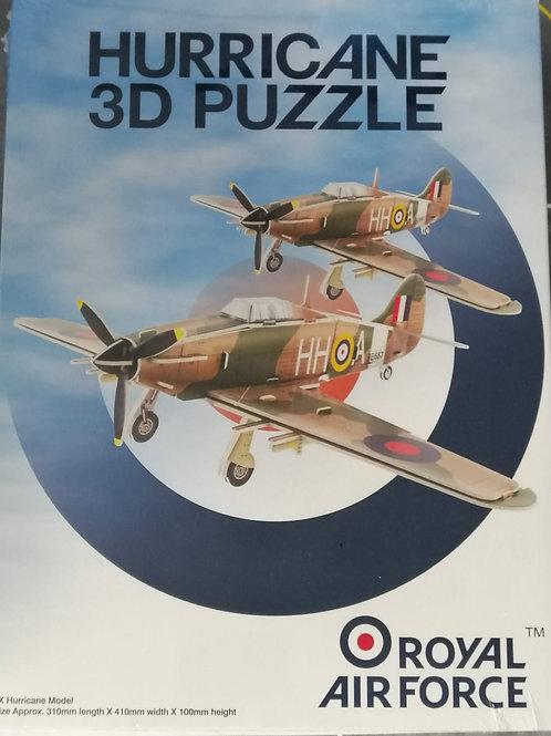 RAF Hurricane Foam 3D Puzzle Plane