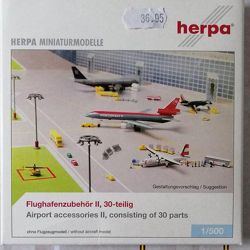 HERPA AIRPORT ACCESSORIES II / 30 PART SET - 1/500