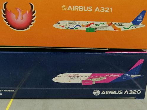GEMINI JETS /PHOENIX WIZZ AIR TWINSET A320/321 1/400