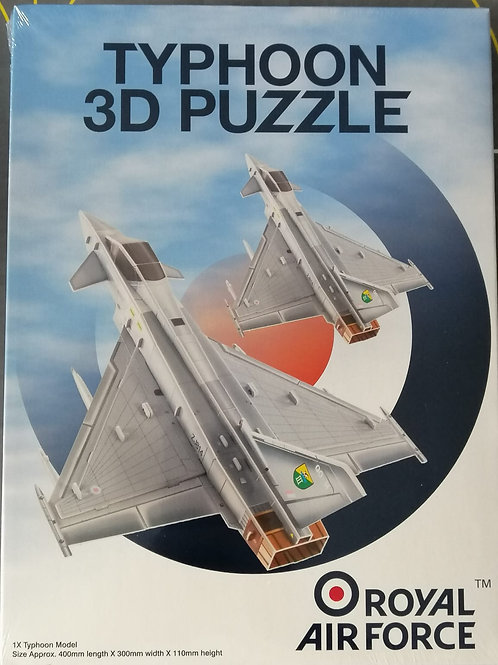 RAF Typhoon 3D Puzzle Plane