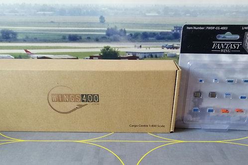 WINGS400/FANTASY WINGS CARGO CENTRE SET-3 Incl FWDP-CG-4003 (12pc set) 1/400