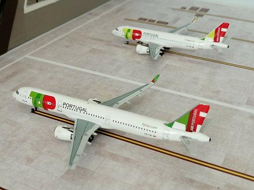 PANDA MODELS TAP AIR PORTUGAL TWINSET A320 / A321 CS-TVD & CS-TJI  1/400