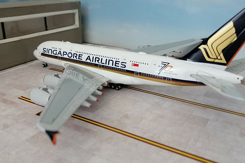 """BBOX/JC WINGS SINGAPORE AIRLINES A380 9V-SKU """" 70 YEARS""""  1/400"""