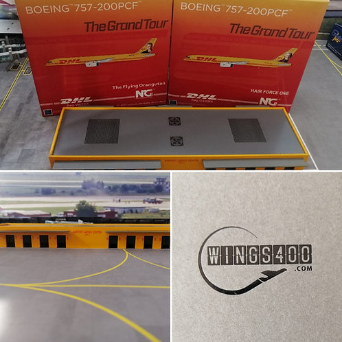 WINGS400/NG MODELS  DHL 757 TWINSET WITH CARGO CENTRE SET-4 1/400