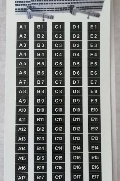AIRPORT BOARDING GATES ADHESIVE  STICKERS