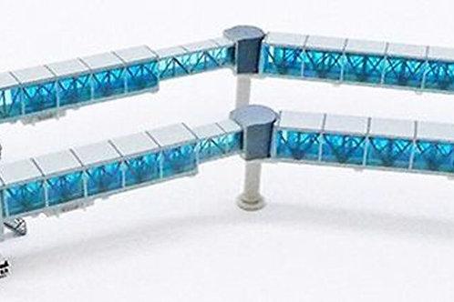 JC WINGS AIRPORT ACCESSORIES  AIR PASSENGER BRIDGE B737 (BLUE) LH4223 1/400