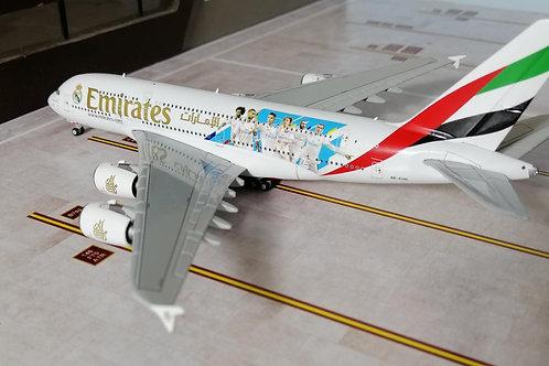 "GEMINI JETS EMIRATES A380 A6-EUG "" REAL MADRID"" 1/400"