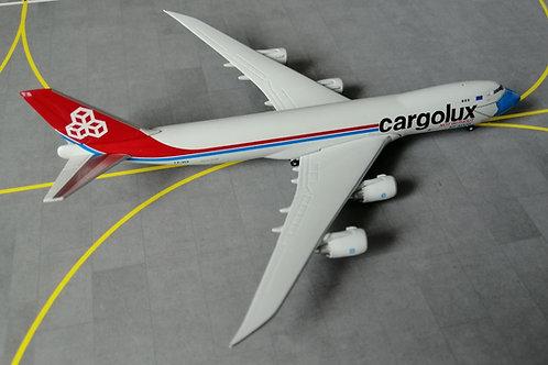 "HERPA CARGOLUX B747-8F LX-VCF ""NOT WITHOUT MY MASK"" 1/400"