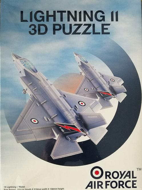 RAF LightningII 3D Puzzle Plane