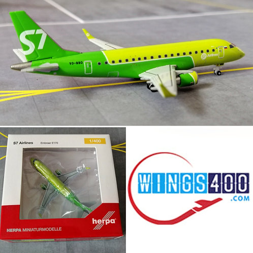 HERPA S7 AIRLINES EMBRAER E-170 VQ-BBO 1/400