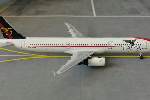 """EL AVIADOR MODELS TACA A321 N567TA  """"75 ANOS"""" 1/400"""
