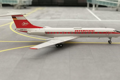 PANDA MODELS INTERFLUG TU-134A DDR-SCK 1/400