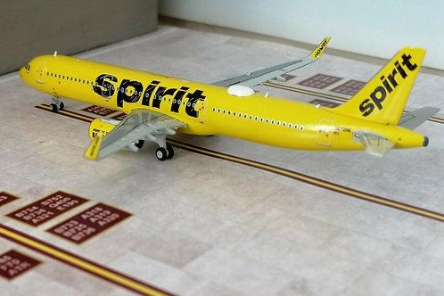 """GEMINI JETS SPIRIT A321 """"BAREFARE"""" N672NK  1/400"""