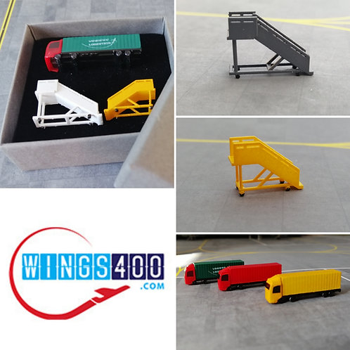 WINGS400 AIRPORT ACCESSORIES /GSE (TRIAL PACKX3) 1/400