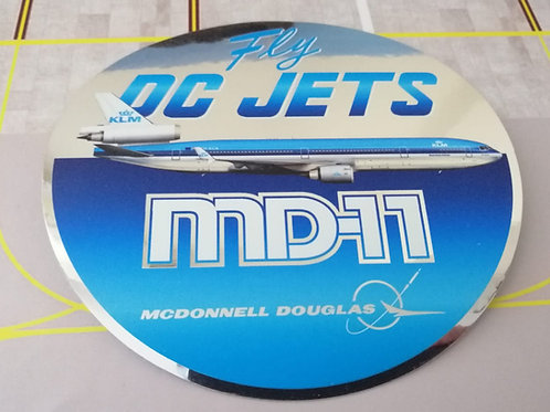 KLM MD-11 TRIBUTE STICKER