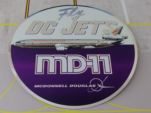 MCDONNELL DOUGLAS HOUSE COLOURS MD-11 TRIBUTE STICKER