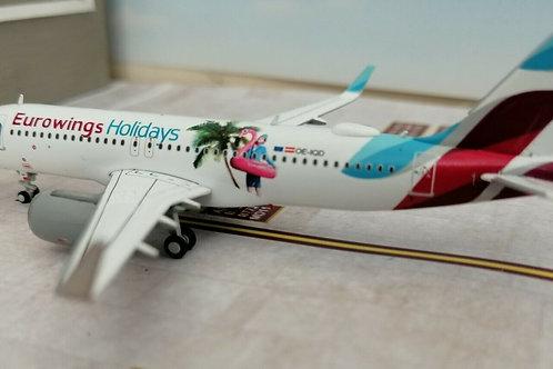 "HERPA EUROWINGS A320 ""HOLIDAY LIVERY"" OE-IQD  1/400"