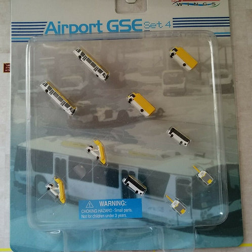 """DRAGON WINGS AIRPORT ACCESSORIES /GSE """"SET4 - YELLOW""""  1/400"""