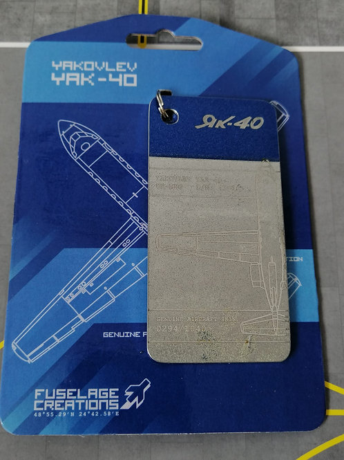 FUSELAGE CREATIONS YAK-40 BLUE/SILVER  LIMITED ED