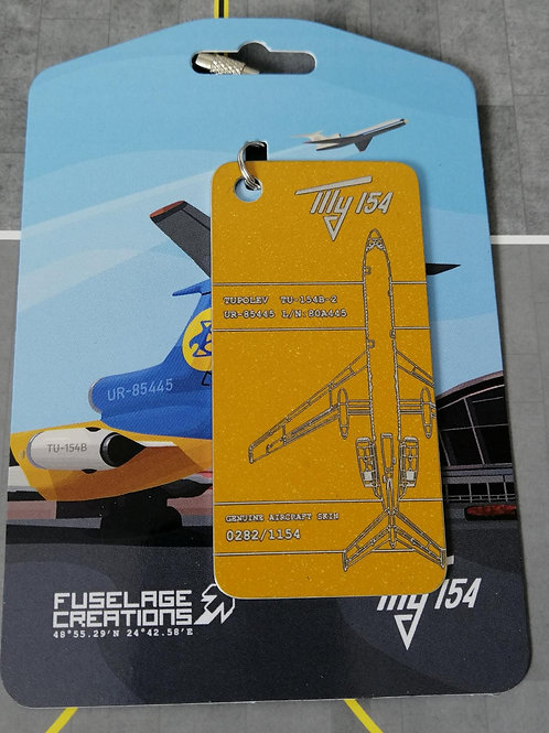 FUSELAGE CREATIONS TUPOLVE TU-154 YELLOW  LIMITED EDITION