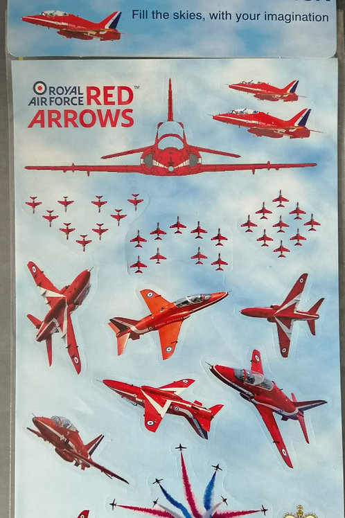 ROYAL AIR FORCE RED ARROWS STICKER SET