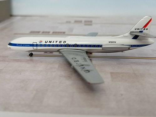 AEROCLASSICS UNITED AIRLINES CARAVELLE SE-210 N1001U   1/400