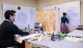 Zaid and Charlene in online artist hub.j