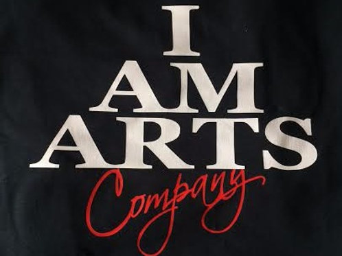 I AM ARTS T-Shirt with White Lettering