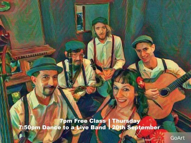 Band members of Swingin' at the Savoy