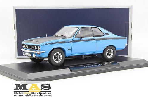 Opel Manta A GT/E 1975 blau schwarz Norev 1/18