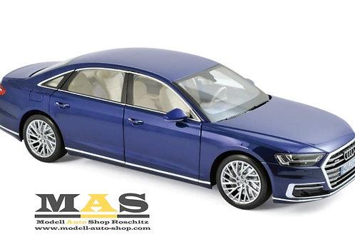 Audi A8 L 2017 blue Norev 1/18