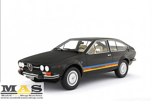 Alfa Romeo Alfetta GTV 2000 Turbodelta 1979 schwarz Laudoracing 1/18