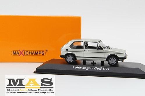 Volkswagen VW Golf 1 GTI Pirelli 1983 silver Minichamps 1/43