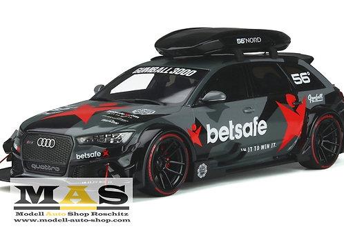 Audi RS6 Avant C7 DTM schwarz 2015 Desing BETSAFE GT Spirit 1/18