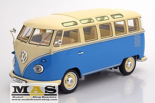 Volkswagen VW Bulli T1 Samba 1962 blue beige KK-Scale 1/18