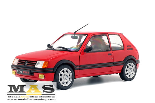 Peugeot 205 GTI MK1 1985 rot Solido 1/18
