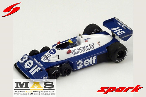 Tyrrell P34 No.3 R. Peterson Brasilien GP 1977 Spark 1/18