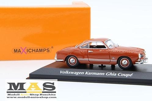 Volkswagen VW Karmann Ghia Coupe 1955 Rot Minichamps 1/43