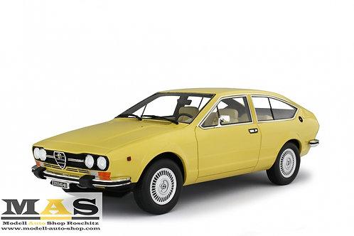 Alfa Romeo Alfetta GTV 2000 1976 gelb Laudoracing 1/18