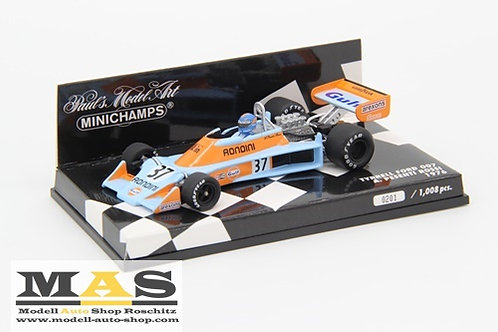 Tyrrell Ford 007 Gulf A. Rossi 1976 Minichamps 1/43
