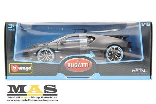 Bugatti Divo 2018 matt grau/ hellblau Bburago 1/18