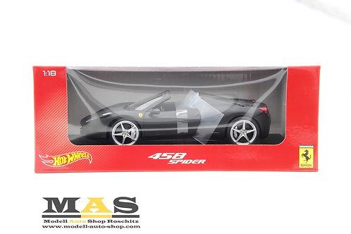 Ferrari 458 Italia Spider 2011 schwarz matt Mattel 1/18