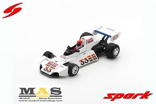 Brabham BT44B J. Nelleman Trainig Sweden GP 1976 Spark 1/43