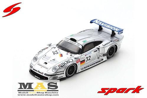Porsche 911 GT1 No. 32 24h LeMans 1997 Wendlinger, McNish, Ortelli Spark 1/43