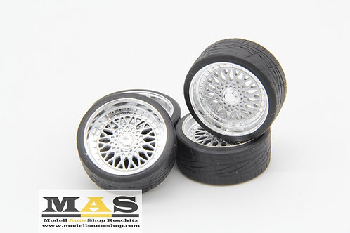 BBS RS 16 inch SD rims 1/18 silver, black, gold, red