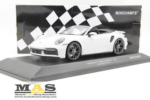 Porsche 911992 Turbo S Cabrio 2020 bianco Minichamps 1/18