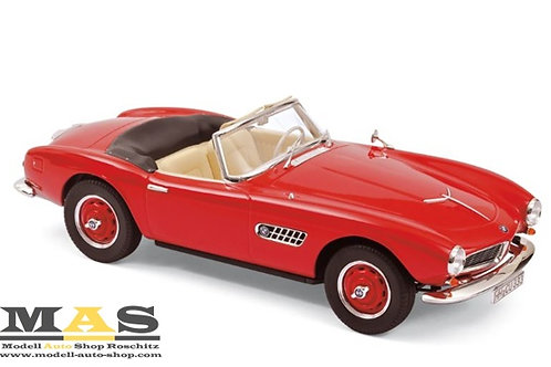 BMW 507 Cabrio 1956 red Norev 1/18