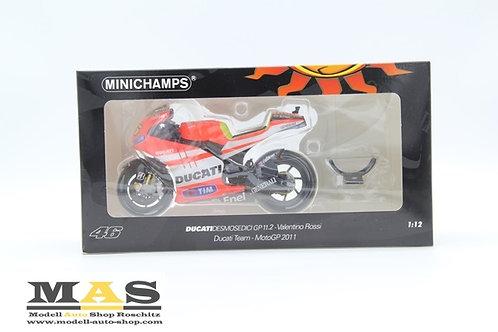 Ducati DesmosedIci GP 11.2 V. Rossi Moto GP 2011 Minichamps 1/18