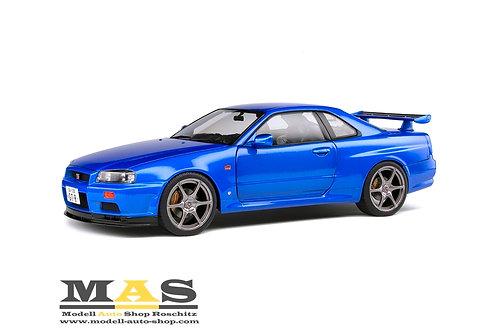Nissan Skyline GT R R34 1999 blau Solido 1/18