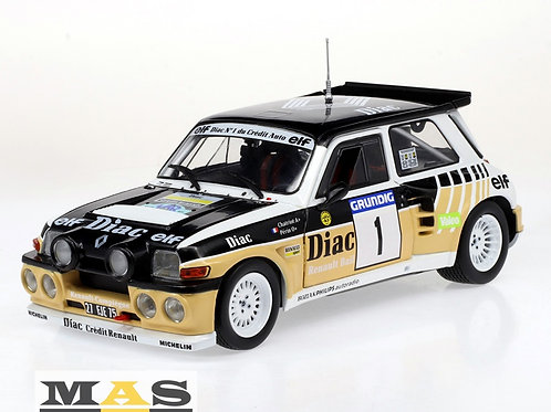 Renault 5 Maxi Rallye du Var 1986 F. Chatriot No. 1 Solido 1/18